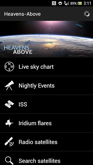 صفحه نرم افزار Heavens-Above
