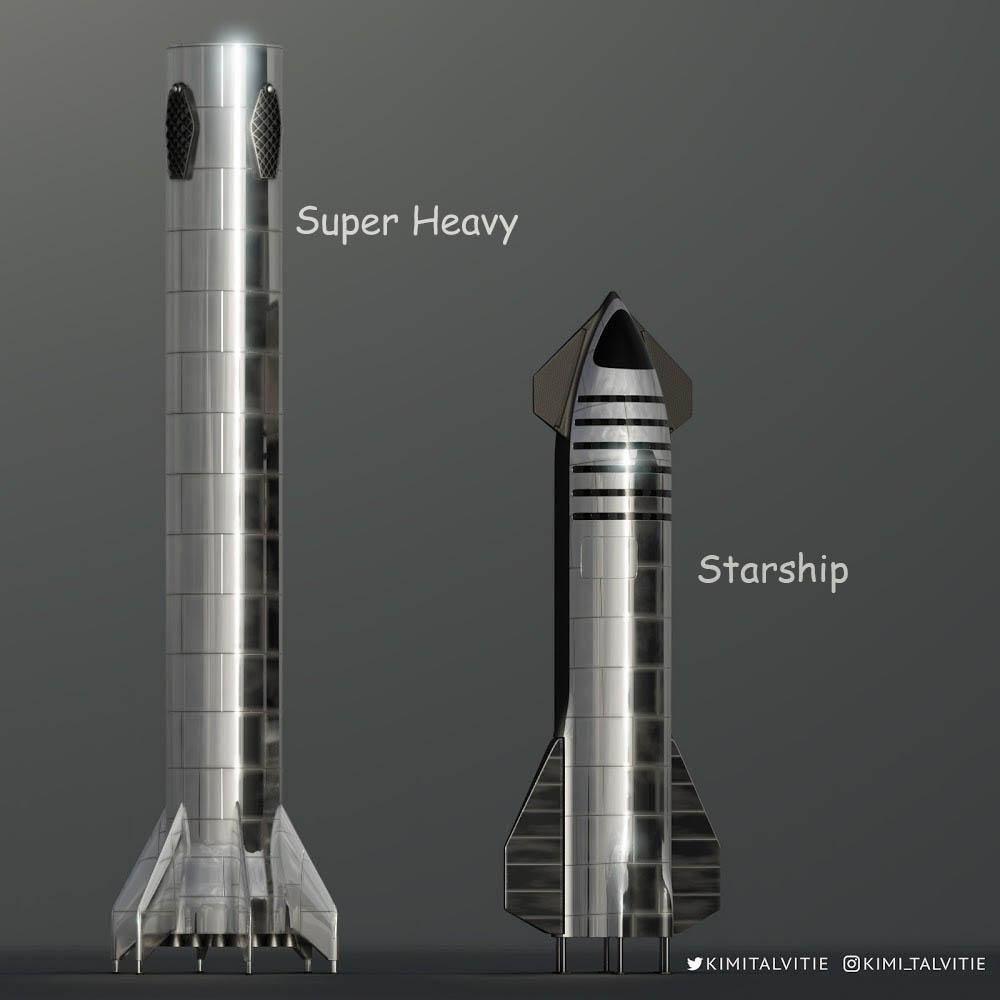 موشک استارشیپ و اسپیس هوی