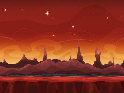 تصویر فانتزی از مریخ