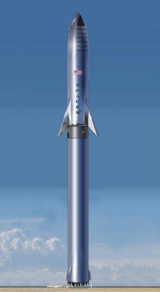 موشک استارشیپ قبل از پرتاب (تصویر تزئینی است)